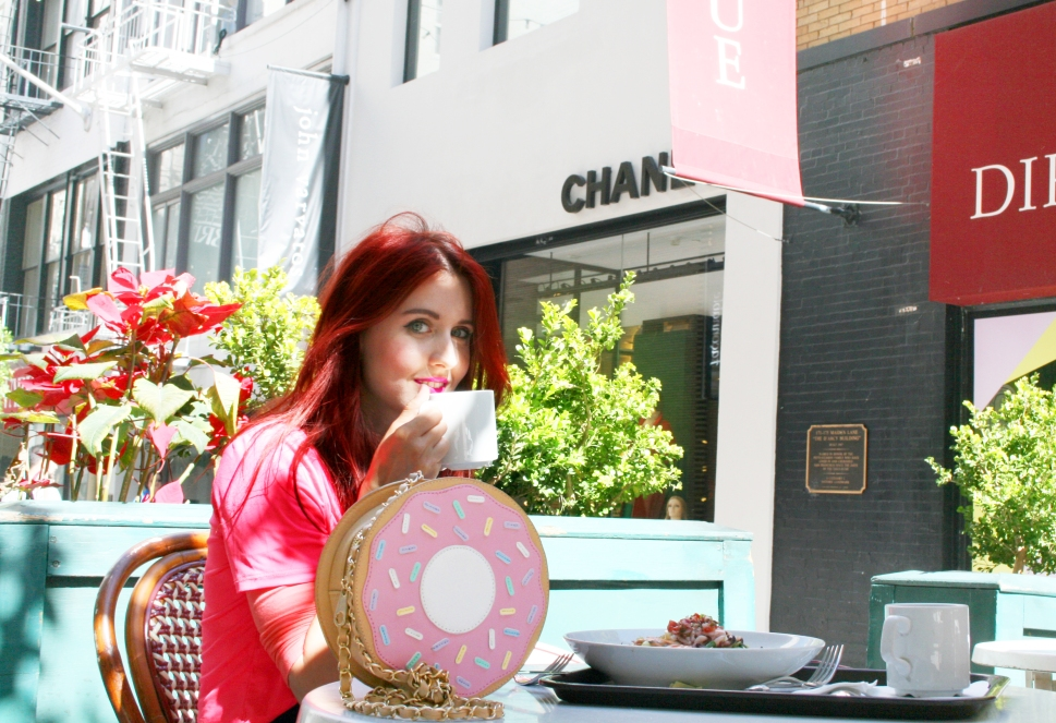 Hot Pink Summer Outfit, Go Jane Donut Lover Faux Leather Bag