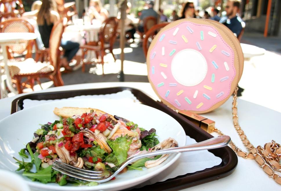 Seafood Lunch, Donhut Bag, YSL lipstick