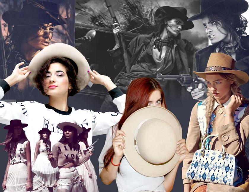 Asha Raval, Juliana Stoy, Net-a-Porter, Stetson Hat, The Row, Vogue Paris, Western Vogue, Western Fashion, Vogue, Maxi Skirt, Chloe Draw Bag, Cowgirl Fashion, Cowboy, Bandit